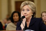 Democratic presidential candidate Hillary Clinton listens to a question as she testifies before the House Select Committee on Benghazi on Capitol Hill in Washington